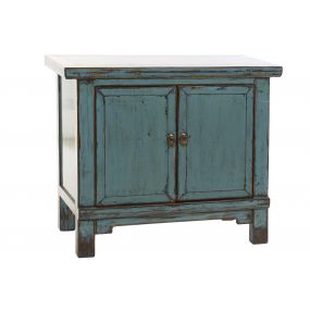 BUFFET ELM METAL 92X40X79 LACQUERED TURQUOISE