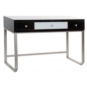 CONSOLE TABLE METAL GLASS 120X49X80 WHITE