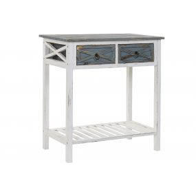 CONSOLE TABLE PAULOWNIA PINE TREE 70X39X75 WHITE