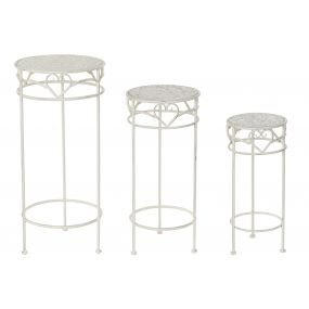 AUXILIARY TABLE SET 3 METAL 32X32X70