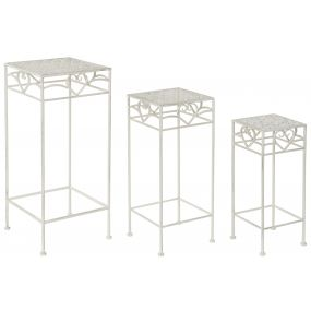 AUXILIARY TABLE SET 3 METAL 30X30X70