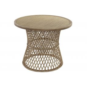 AUXILIARY TABLE RATTAN 60,5X60,5X48,5 NATURAL