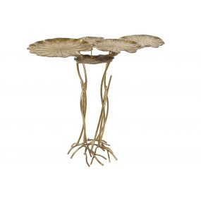 AUXILIARY TABLE METAL 90X58,5X83 WATER LILIES