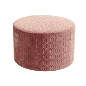 FOOTREST POLYESTER MDF 55X35 PINK