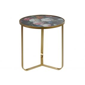AUXILIARY TABLE IRON 45X45X50 45 HYPERFLORAL BLACK