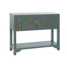 CONSOLE TABLE MDF SOLID WOOD 95X24X79 ORIENTAL
