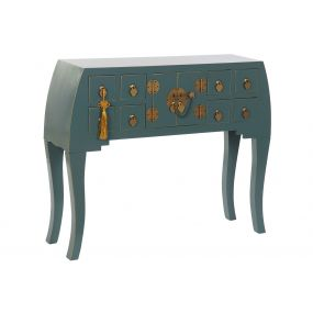 CONSOLE TABLE SOLID WOOD MDF 98X26X80 ORIENTAL