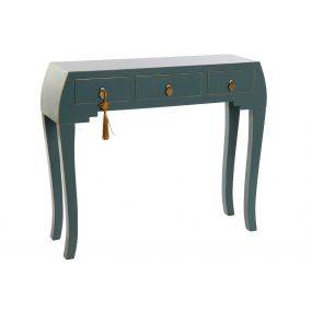 CONSOLE TABLE SOLID WOOD MDF 96X26X80 ORIENTAL