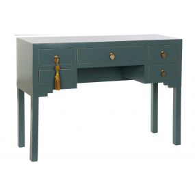 DESK MDF SOLID WOOD 110X35X78 ORIENTAL TURQUOISE