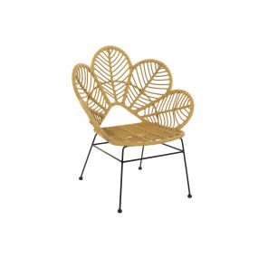 CHAIR SYNTHETIC RATTAN METAL 76X67X86 FLOWER