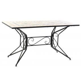 TABLE FER FORGÉ CÅRAMIQUE 140X80X75,5 MOSA QUE