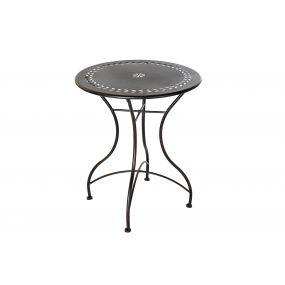 TABLE METAL 61X61X73 BLACK