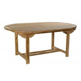 TABLE TEAK 180X120X75 EXTENDIBLE 240 NATURAL BROWN
