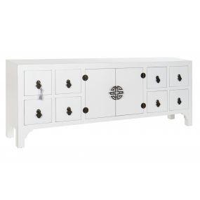 TV CABINET SPRUCE MDF 130X24X51 ORIENTAL WHITE