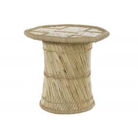 AUXILIARY TABLE BAMBOO ROPE 68X68X69 NATURAL