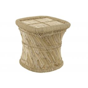 AUXILIARY TABLE BAMBOO ROPE 45X45X47 NATURAL