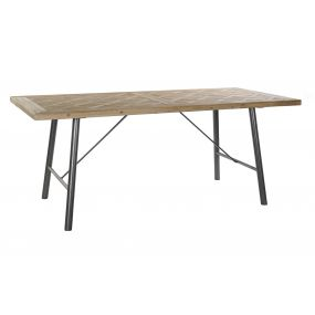TABLE SPRUCE MDF 190X90X77 NATURAL