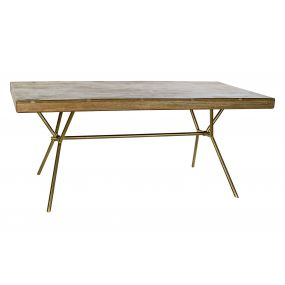TABLE MANGO BRASS 180X90X77 NATURAL