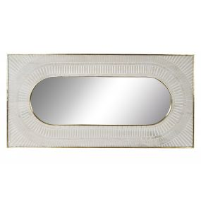 MIRROR MANGO BRASS 154X5,3X77,6 WHITE