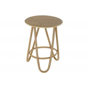 AUXILIARY TABLE RATTAN 41X41X52 NATURAL BROWN