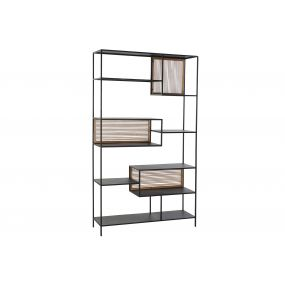 SHELVING SPRUCE METAL 115X30X195 BLACK