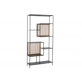 SHELVING SPRUCE METAL 100X30X200 BLACK