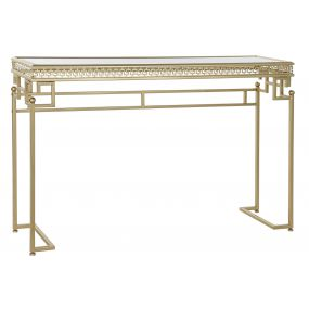 CONSOLE TABLE METAL MIRROR 117X31X75 9,3 AGED