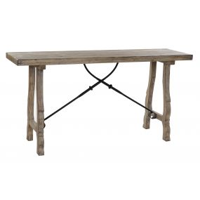 CONSOLE TABLE WOOD METAL 160X45X81,5 NATURAL