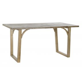 TABLE WOOD MDF 160X80X77 NATURAL