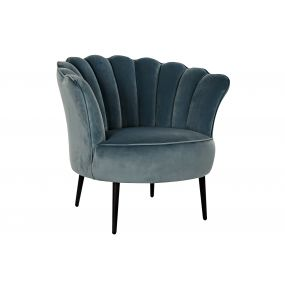 ARMCHAIR POLYESTER METAL 88X77X81 SKY BLUE