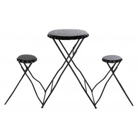 TABLE SET 2 METAL 188X52X107 BLACK