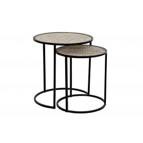 AUXILIARY TABLE SET 2 METAL 45,5X45,5X50 38X43