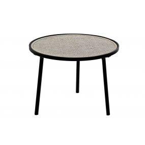 AUXILIARY TABLE METAL BAMBOO 55X55X41,5 DECAPE