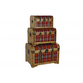 TRUNK SET 3 POPLAR POLYESTER 61X43X42,5 PICTURE