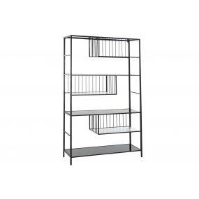 SHELVING METAL 115X34,5X190 BLACK