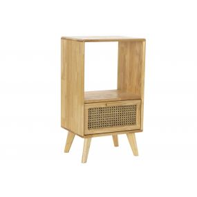BEDSIDE TABLE RUBBER RATTAN 40X30X69,5 RACK