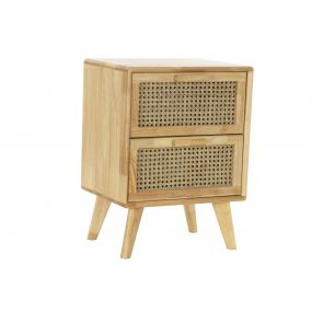 BEDSIDE TABLE RUBBER RATTAN 40X30X54 RACK NATURAL