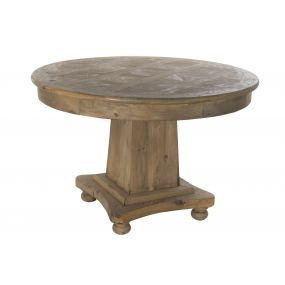 TABLE PINE TREE 120X120X78 AGED NATURAL