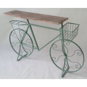 CONSOLE TABLE METAL PINE TREE 123X28X74 BICYCLE