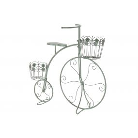 FLOWERPOT STAND METAL 73X22X70 BICYCLE AGED GREEN