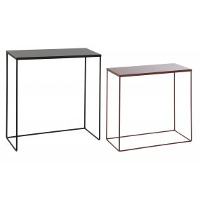CONSOLE TABLE SET 2 METAL 60X25X64