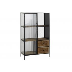SHELVING GLASS METAL 70X35X122