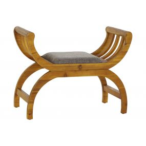SHOE-REMOVING CHAIR WOOD 77,5X36,5X60 GREY