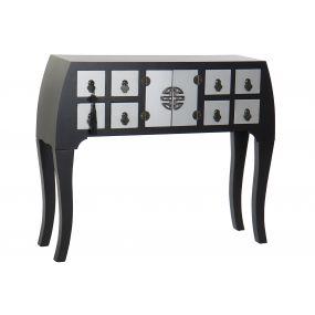 CONSOLE TABLE SPRUCE MDF 98X26X80 ORIENTAL BLACK