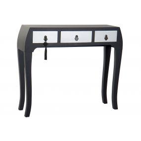 CONSOLE TABLE SPRUCE MDF 96X26X80 ORIENTAL BLACK