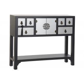 CONSOLE TABLE SPRUCE MDF 95X24X79 ORIENTAL BLACK
