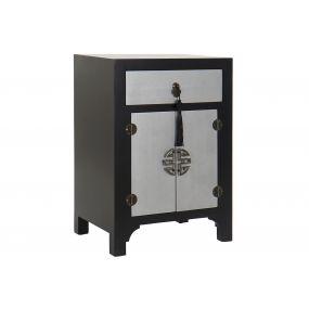 BEDSIDE TABLE SPRUCE MDF 45X34X66 ORIENTAL BLACK