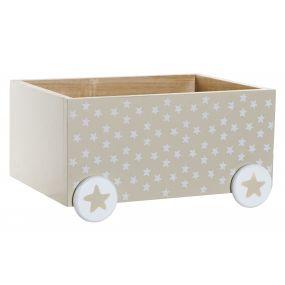 BOX PAULOWNIA 35X25X18 TOYS BEIGE