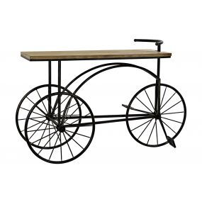 COFFEE TABLE METAL SPRUCE 128X40X82 BICYCLE BLACK