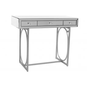 CONSOLE TABLE MIRROR MDF 110X48X90 SILVER